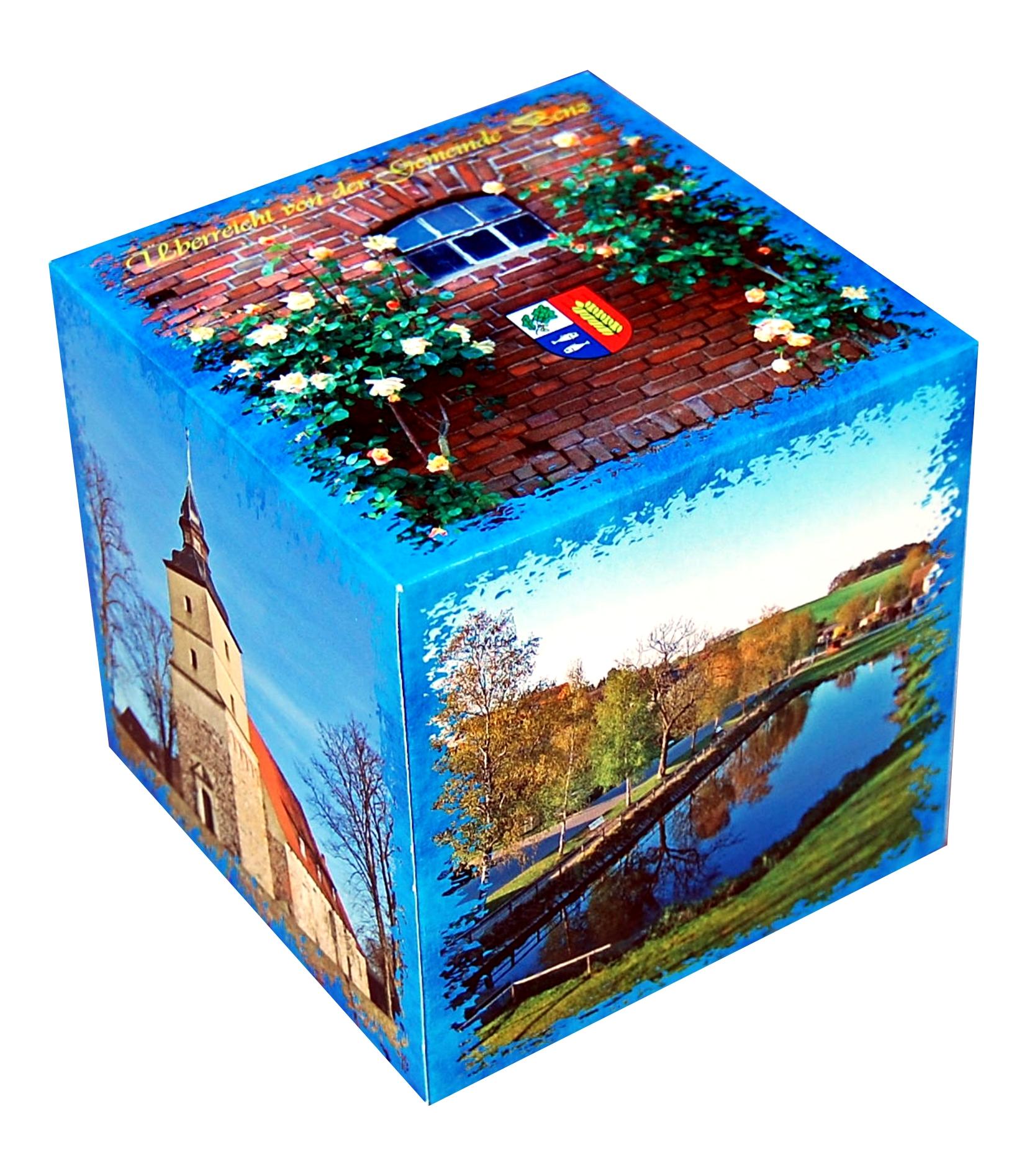 Kolorowe pudełko reklamowe